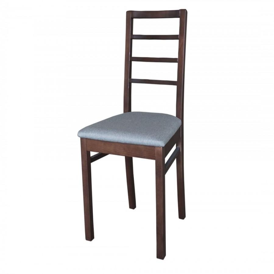 Καρέκλα GM-M3 καρυδί με γκρι ύφασμα - GM-M3-B0606