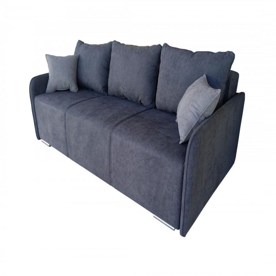 Τριθέσιος καναπές κρεβάτι Komo Σκούρο Γκρι - MD-KOMO-I