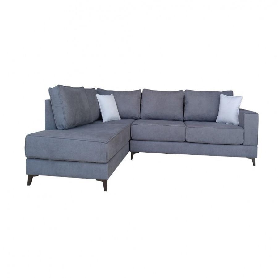 Γωνιακός καναπές XENIA Γκρι Δεξιά φορά - MD-XENIA-VIΔ