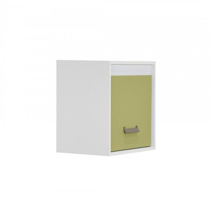 Ράφι επιτοίχιο Kinder 1V Λευκό Πράσινο - 643818